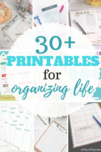 Over 30 great life organization printables to help organize your home and business all year