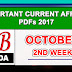 October 2017 2nd week current affairs PDF
