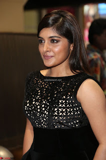 Niveda Thomas Black Sleeveless Cute Dress at 64th Jio Filmfare Awards South 2017 ~  Exclusive 078.JPG