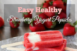 Easy Healthy Strawberry Yogurt Popsicles