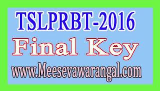 TSLPRBT-2016 SCT SI (Civil/AR/SAR/TSSP/SPF/SFO) Final Key