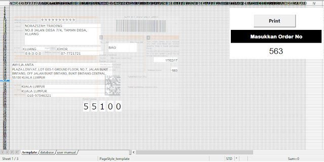 Template Poslaju Database System Orange (1 page) Open Office 4.1.3