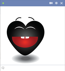 Black Heart Icon for Facebook