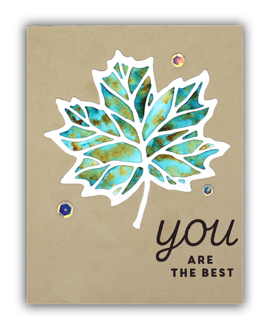 Thankful Leaves Turnabout card by Understand Blue