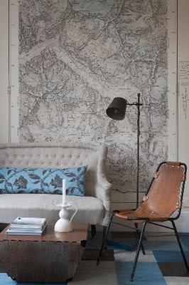 mapas elegantes para el salón