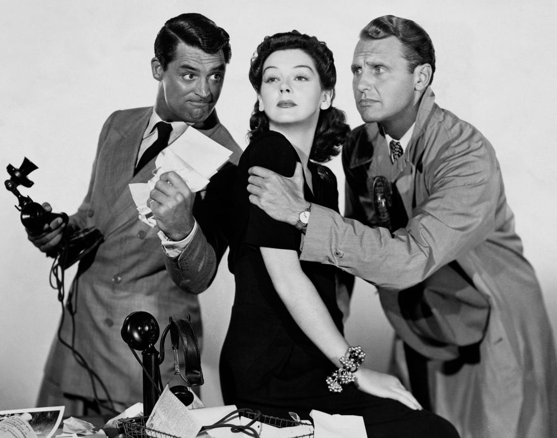 Luna nueva (His Girl Friday) - 1940 - Cary Grant, Rosalind Russell y Ralph Bellamy