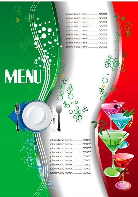 plantilla de menú de bebidas gratis