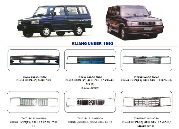 Bodypart Toyota Kijang 1993