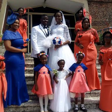 Checkout Beautiful Photos From Mike Bamiloye's Son, Damilola's White Wedding