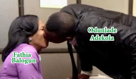 fathia balogun kissing odunlade adekola