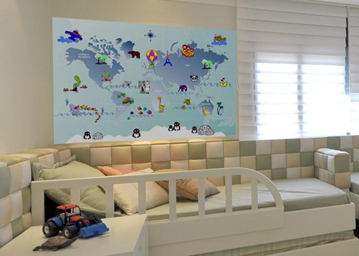 ambientes decorados com mapas 8 - A elegância dos Mapas na decoração de Ambientes