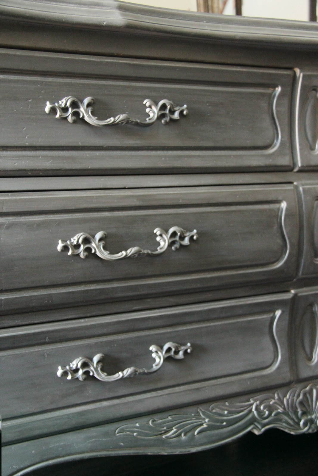 New To You Antique French Gray Dresser