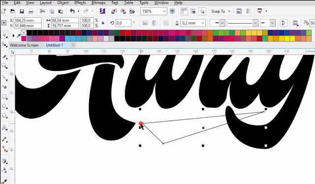 Cara Membuat Typography Text Di CorelDraw (Ver.1)