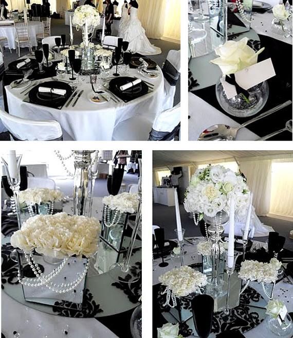 Black And White Wedding Table Decoration Ideas - Elitflat