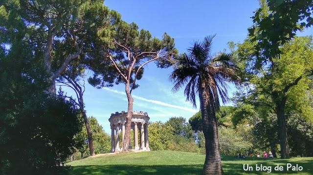Vistas del parque de El Capricho en Madrid
