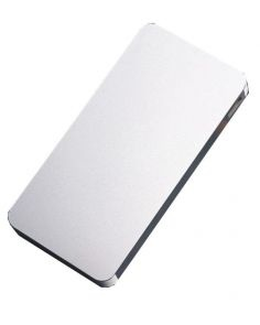 Ultra Slim Solar Power Bank 12000mAh  - Silver