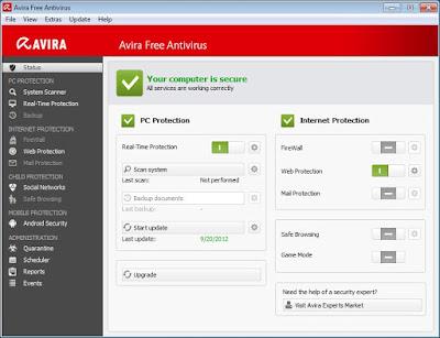 Avira Free Antivirus 15.0.25.154