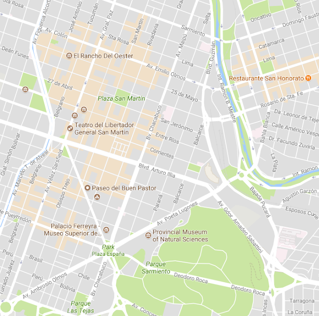 Como é o mapa turístico de Córdoba