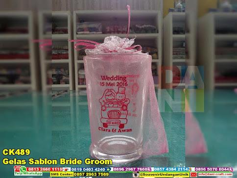gelas sablon bride groom unik