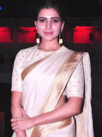 Samantha new photos in saree at samshabad temple-cover-photo