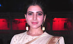 Samantha new photos in saree at samshabad temple