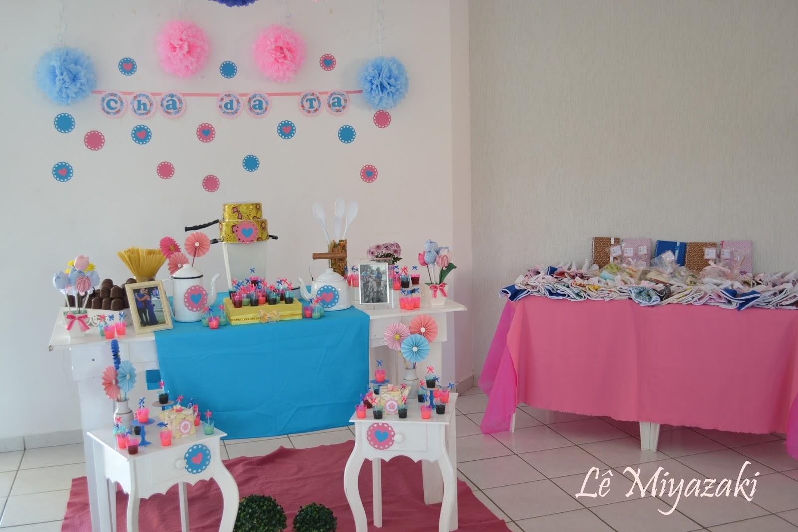 Festa Das Cores Decora O Ch De Cozinha Rosa E Azul ~ Decoracao Para Cha De Cozinha