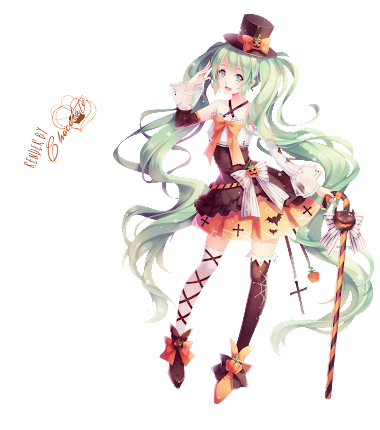 PNG- Trick Or Treat MIKU