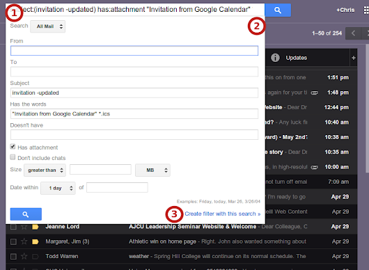 Filter Google Calendar Invitation Responses from Your Inbox