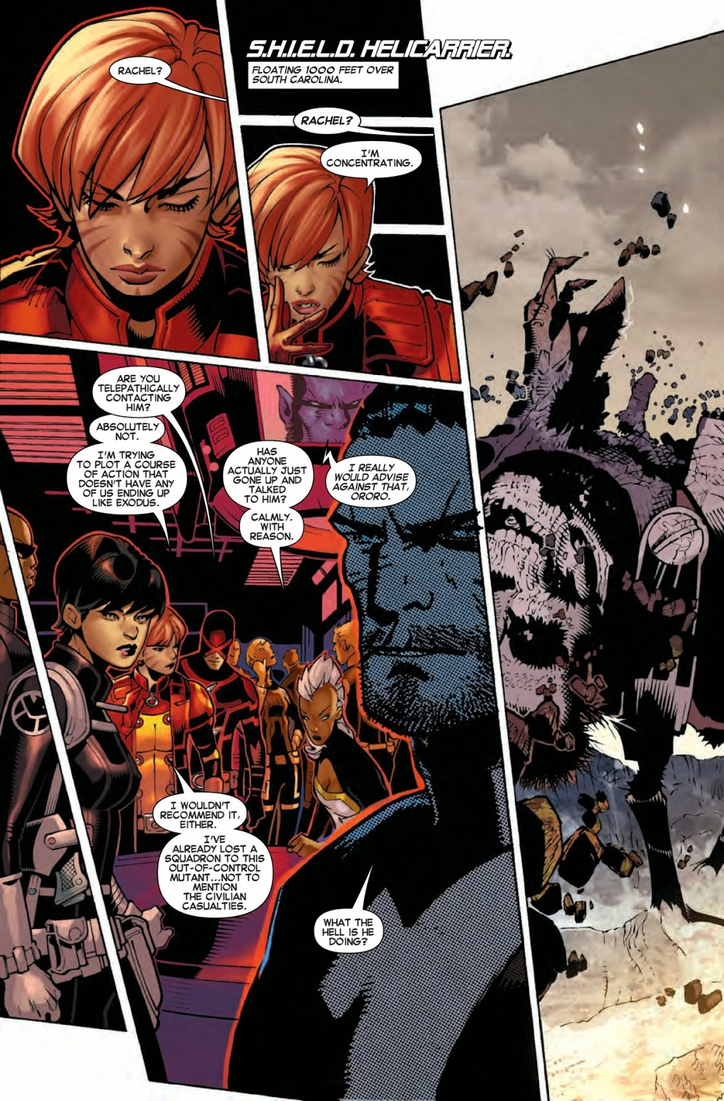 S.H.I.E.L.D. and the X-Men confront Matthew Malloy