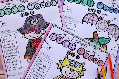 On the lookout for great Halloween multiplication and other math resources for your Kindergarten, 1st, 2nd, 3rd, 4th, or 5th grade classroom? Then THIS is it! Click through to see the many math topics that are covered! You can use these resources for the entire month of October. The best part? There's a FREE download! Click through now to grab your freebie and see all the great Halloween math resources you can get your hands on! {Kinder, first, second, third, fourth, fifth grader}