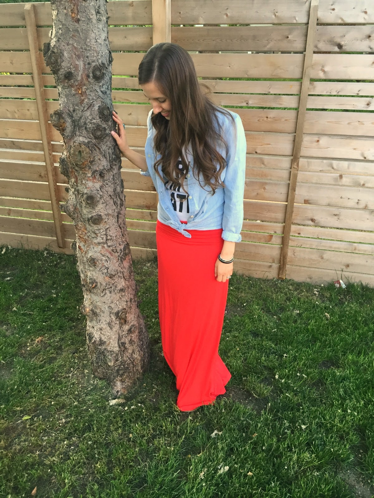 Casual wear, love strong, maxi, chambray