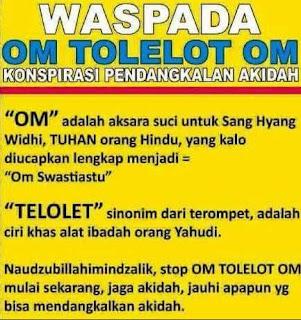 Lebay !!! Om Telolet Om Disebut Pendangkalan Akidah...
