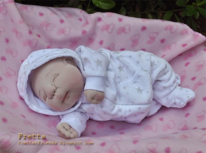 Fretta Ooak Soft Sculpture Newborn Baby Textile Baby