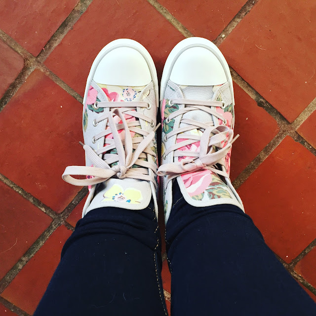 Cath Kidston high tops - To Become Mum