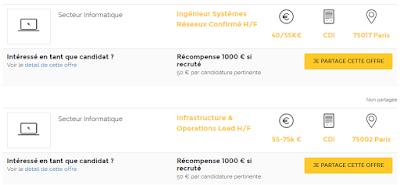 Exemple d'offres d'emploi sur MyJobCompany