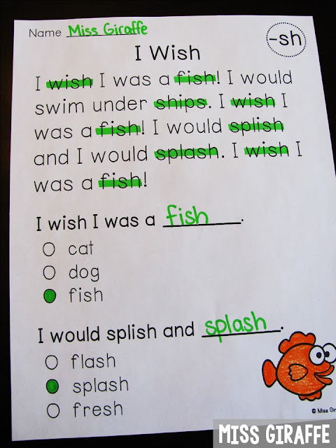 Digraphs reading comprehension passages that are perfect for fluency practice while also practicing reading digraphs