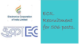 ECIL Recruitment for 506 posts.