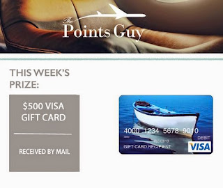 The Points Guy $500 Visa Giveaway