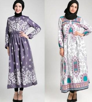 Koleksi Model Gamis Batik Remaja Kombinasi Modern Terbaru