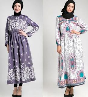 Gamis batik untuk remaja wanita trend masa kini