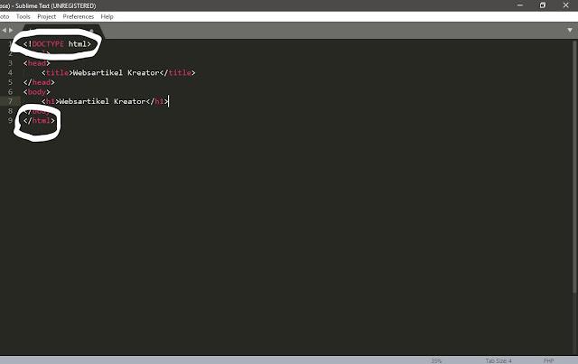 Struktur dan Komponen Dasar Pada HTML