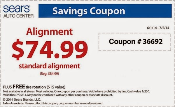 sears tire rebates july 2014
