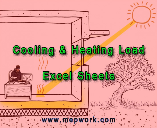 HVAC Cooling & Heating Load Excel Sheets - Free download