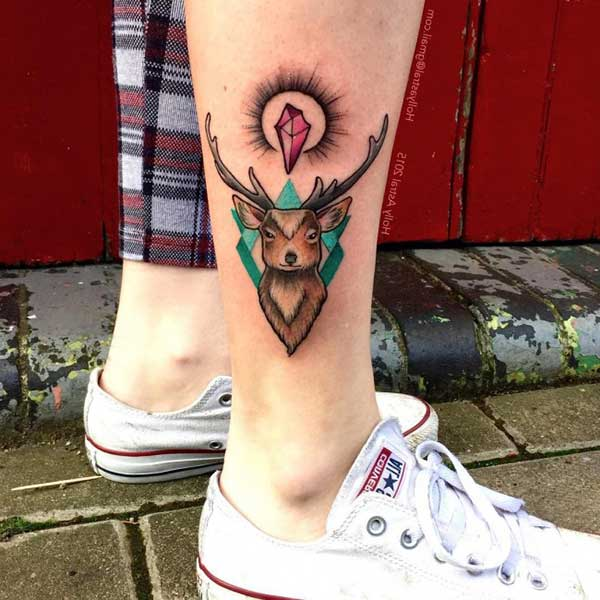 deer ankle tattoo