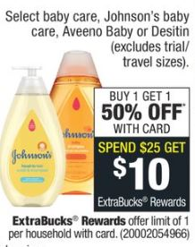 Aveeno cvs baby deal
