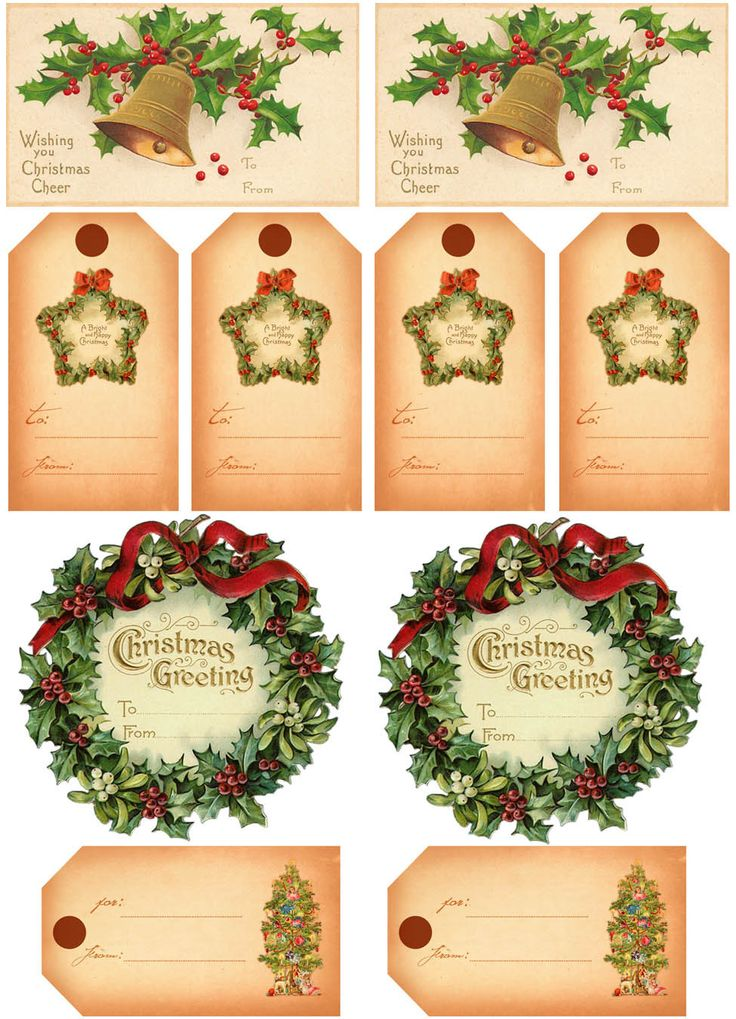 This is a photo of Fabulous Vintage Christmas Labels to Print