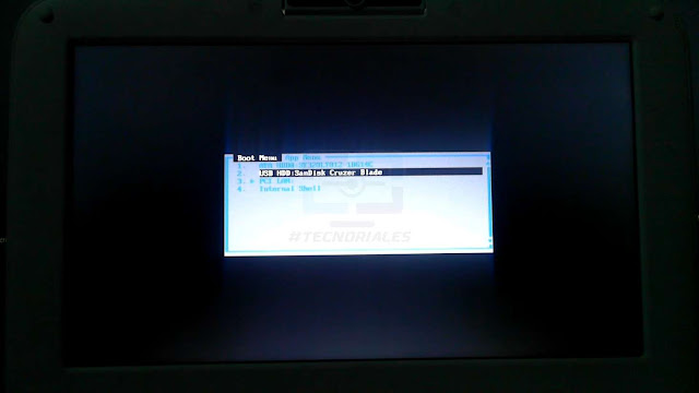 boot menu f11 bios canaima