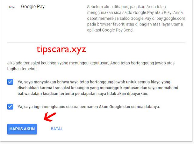 Cara Menghapus Gmail atau Akun Google dengan Mudah 5