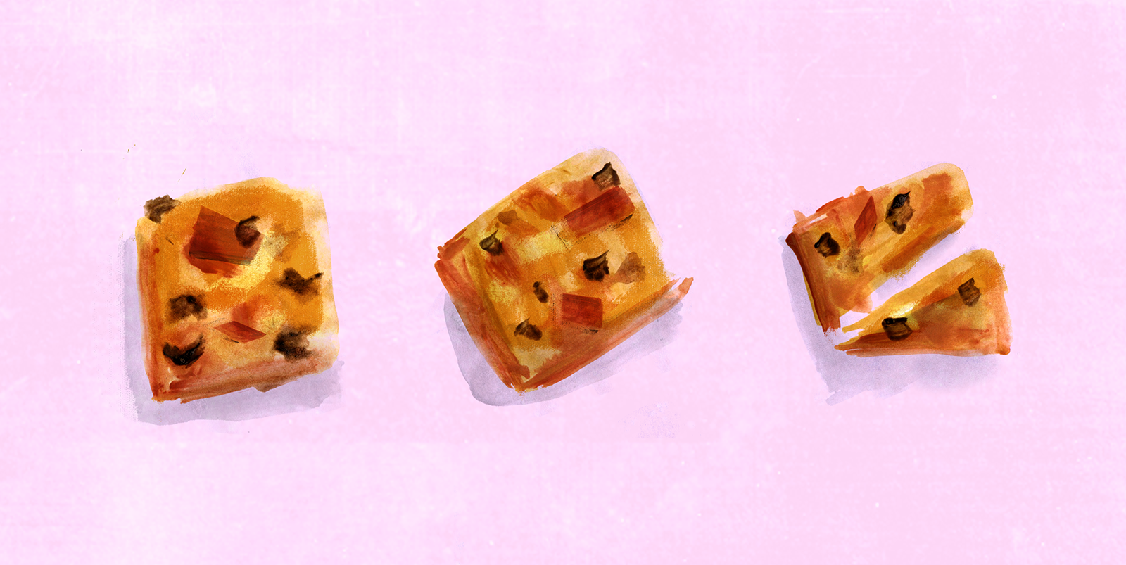 Butterscotch Caramel Blondies, Lauren Monaco Illustration