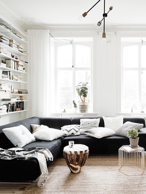 Automatism easy modern - Black couch decorating ideas ...